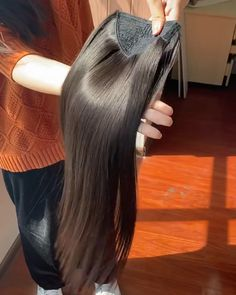 Thriving Hair Brazilian Virgin Human Hair Straight/Curly/Body Wave/Natural Wave Velcro Strap Wrap Around Ponytail For Women Clip-In Ponytail 60g-160g (P1) Human Hair Ponytail Extensions, Clip In Ponytail, Straight Ponytail, Virgin Hair Extensions, Ponytail Hairstyles, Straight Hairstyles, Fuller Hair, Natural Waves, Body Wave