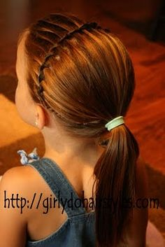 They have some super cute styles for little girls. I want to try out the waterfall braid on Cam. It's cute.