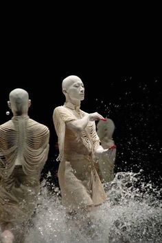 "SANKAI JUKU - japanese butoh company  With ""Butoh"" dancing, there is no set style, and it may be purely conceptual with no movement at all. Its origins have been attributed to Japanese dance legends  Tatsumi Hijikata and Kazuo Ohno.  Image via Pinterest"