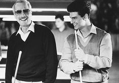 """@Paul Newman & Young Tom Cruise """"The Color Of Money"""" (1986)"""