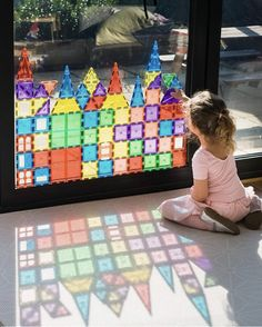 Magnetic Tiles- Playmags, Children Hub or Connetix? - Inspire my Play Indoor Activities, Sensory Activities, Infant Activities, Preschool Activities, Reggio Emilia Preschool, Toddler Learning, Toddler Fun, Toddler Toys, Early Childhood