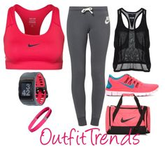 Ideas For Sport Outfit Gym Roshe Fitness Outfits, Nike Outfits, Fitness Fashion, Sport Outfits, Fitness Clothing, Workout Clothing, Exercise Clothes, Fitness Shirts, Exercise Equipment