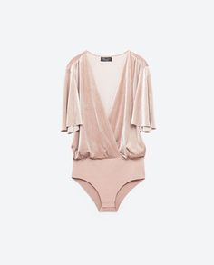 FOR STYLE INSPIRATION ||  SPECIAL EDITION VELVET BODYSUIT from Zara || NOVELA BRIDE...where the modern romantics play & plan the most stylish weddings...www.novelabride.com /novelabride/ #jointheclique