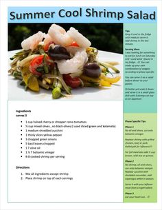 Enjoy this summer fresh salad. Adaptable to all 3 phases for the fast metabolism diet.