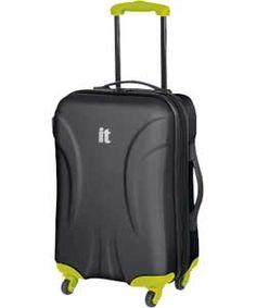 Buy IT Contrast Medium 4 Wheel Suitcase - Black at Argos.co.uk, visit Argos.co.uk to shop online for Suitcases