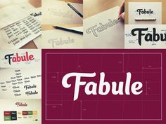 Fabule Custom Type Logo: Case Study designed by Sean McCabe. the global community for designers and creative professionals. Hand Drawn Lettering, Types Of Lettering, Vintage Lettering, Lettering Design, Typography Inspiration, Logo Design Inspiration, Sean Mccabe, Script, Type Logo
