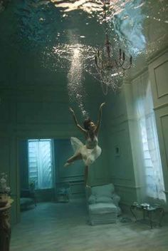 nearly every daydream i had from age 5 until.. well, now, involved swimming in fully submerged rooms. love.