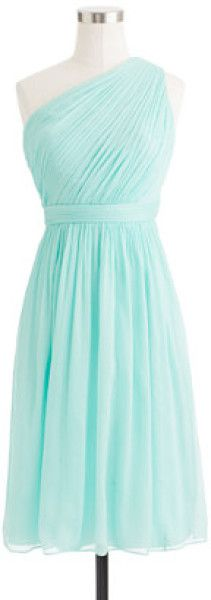 J.crew Kylie Dress in Crinkle Chiffon in Blue (sunwashed aqua) - Lyst