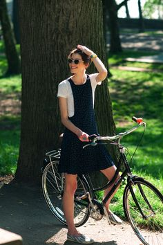 What a perfect day- just riding your bike in a sundress