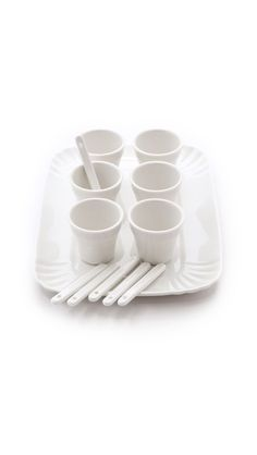 ceramic espresso serving set // $66