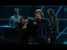 "MICK JAGGER and  BONO - ""Stuck in a Moment"""