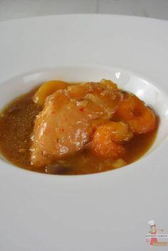 Poulet mijoté au miel, pain d'épices et abricots secs #bassetemperature #omnicuiseur