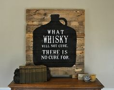 pallet sign...i think Jim would like this in a basement or game room one day ;)