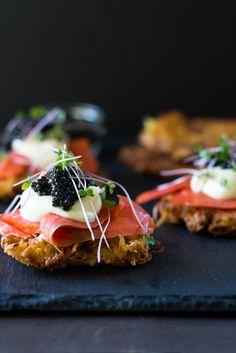 Parsnip Latkes with Caviar