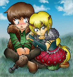 HTTYD: Hiccup and Astrid by Random-EXplosion.deviantart.com on @deviantART