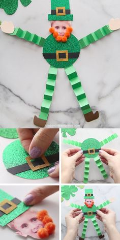 Paper Leprechaun Craft - such a fun craft for St Patrick's Day with free printable leprechaun template. Perfect for kindergarten or preschool to make! crafts for 2 year olds Paper Leprechaun Crafts For 2 Year Olds, Crafts For Seniors, Spring Crafts For Kids, Diy For Kids, Senior Crafts, St Patricks Day Crafts For Kids, St Patrick's Day Crafts, Fun Crafts, Arts And Crafts