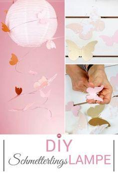 Superniedliche Lampe für das Baby- oder Kinderzimmer! Wir zeigen dir in unserem DIY Video, wie du diese Lampe im Schmetterlings-Style nachbasteln kannst und was du dazu brauchst.
