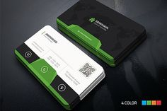 Modern Corporate Business Card Templates This is a Modern Corporate Business Card . This template is 300 dpi print-ready CMYK 08 PSD files. A by InfinityArt