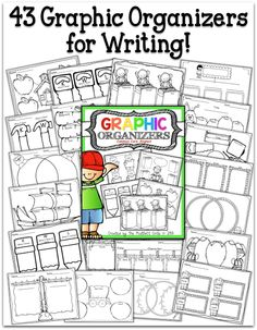 43 ADORABLE Graphic Organizers!  There are even blank one to use with any subject!