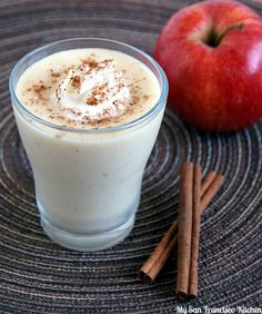 Apple Pie Smoothie- 18 Healthy Smoothie Recipes for Winter Apple Pie Smoothie, Smoothie Recipes With Yogurt, Breakfast Smoothie Recipes, Healthy Smoothies, Healthy Drinks, Apple Pie Recipes, Baby Food Recipes, Easy Recipes, Food Concept