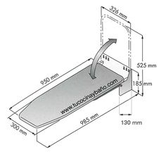 1000 images about tabla de medidas de cocina on pinterest for Mesa para planchar