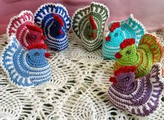 2owieczki: marca 2014 Bolero Pattern, Easter Crochet, Happy Easter, Diy And Crafts, Crochet Earrings, Projects To Try, Sewing, Internet, Crochet Daisy