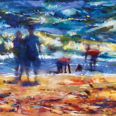 Castles in the Sand by Francis Bowyer, The Royal Watercolour Society RWS – Dry Red Press British Artist, Art Society, Watercolor, Beautiful Greeting Cards, Painting, Art