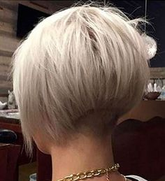 20 Short Bob Haircuts for Women - Top Trends Short Bobs Haircuts Look Sexy and Charming! Short Stacked Bob Haircuts, Short Stacked Bobs, Stacked Bob Hairstyles, Bob Haircuts For Women, Cute Short Haircuts, Short Hair Cuts, Short Hair Styles, Short Bobs, Very Short Bob Hairstyles