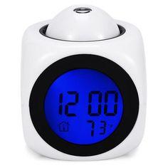 Projection Alarm Clock - Clock Vogue Ceiling Time Projection Alarm Clock with Voice/Talk Activation Feature