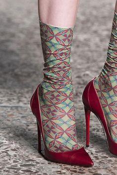 shoes & socks @ Stella Jean Fall 2014. Great socks... no?