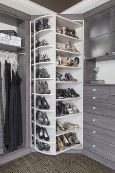 Ins/Reach Ins — Closet Envy Designs - Claire C. Walk Ins/Reach Ins — Closet Envy Designs -Walk Ins/Reach Ins — Closet Envy Designs - Claire C. Walk Ins/Reach Ins — Closet Envy Designs - Open Wardrobe, Wardrobe Design Bedroom, Wardrobe Furniture, Master Bedroom Closet, Bedroom Wardrobe, Wardrobe Closet, Shoe Closet, Shoe Storage Walk In Closet, Small Walk In Wardrobe