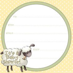 free sheep printables | free printable baby shower invitation template