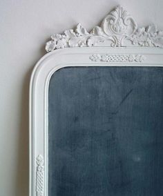 Old mirrors transformed into blackboards. Source by tanjaversteegh Design Sponge, Mirror Frames, Decor, Vintage Frames, Chalkboard, Old Mirrors, Framed Chalkboard, Chalk It Up, Frame