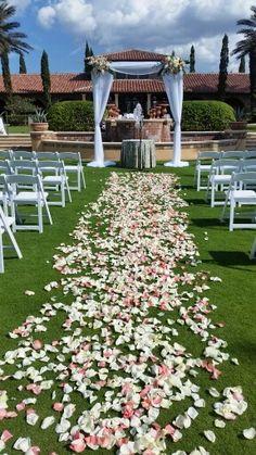 Peach + turquoise wedding