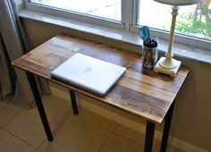 Solid Wood Desk or Laptop Desk - Choose Your Size and Colors! by TheAppelShop on Etsy https://www.etsy.com/listing/252773187/solid-wood-desk-or-laptop-desk-choose