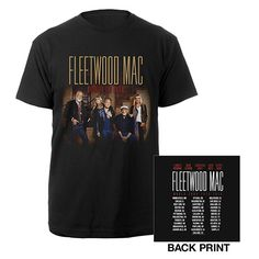 bd5a28712 Fleetwood Mac 2015 On With The Show Tour Itin Black T-shirt