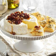 Pecan- & Cherry-Topped Brie