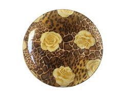 Leopardo e Rosa Branca - Prato Médio