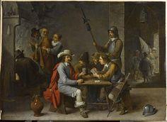 David Teniers | Le Reniement de saint Pierre dans un corps de garde avec des joueurs de cartes | Images d'Art