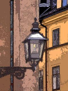 'Unter der Laterne ...' von Dirk h. Wendt bei artflakes.com als Poster oder Kunstdruck $18.03