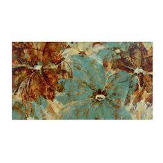 Teal Tahitian Blossoms Canvas Art Print   Kirklands