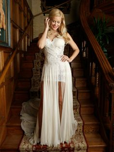 playboy's 2014 Playmate of the Year Kennedy Summers Dress - ZHANG JINGJING 2014 HC S/S Playboy Playmates, Bridesmaid Dresses, Wedding Dresses, White Dress, Celebrities, Summer, Portraits, Fashion