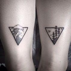 Agua y Tierra - Tatuajes que representan los 4 elementos