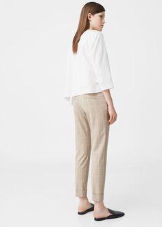 Pantalón algodón cuadros