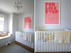 modern white nursery baby-girl