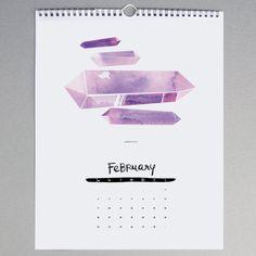 Gem & Mineral Wall Calendar - http://www.leifshop.com/products/gem-mineral-2014-calendar