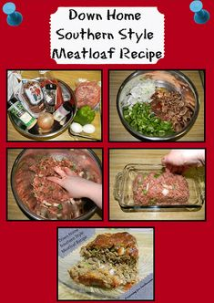 Down Home Southern Style Meatloaf Recipe