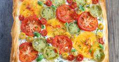 Recette - Tarte multicolore aux tomates en vidéo