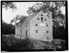Washington's Grist Mill, Mount Vernon, Fairfax County, VA   mid to late 18th Century  built by George Washington as part of his Mount Vernon Plantation