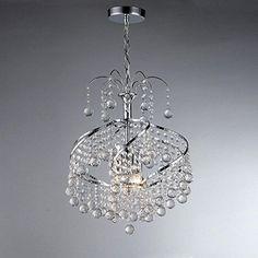 Chandelier Crystal 3 Lights Modern Home Ceiling Light Fixture Flush Mount Pendant Light Chandeliers Lighting (D-SS006)